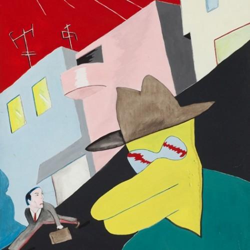 """""""ללא כותרת"""", 1992, אקריליק על דיקט, 51X77 ס""""מ, עיזבון האמן, מס' אוסף – צ-2344"""