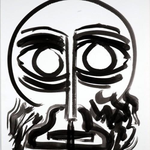 ג'אק גרינברג אנדריי 2003 דיו וגואש על נייר