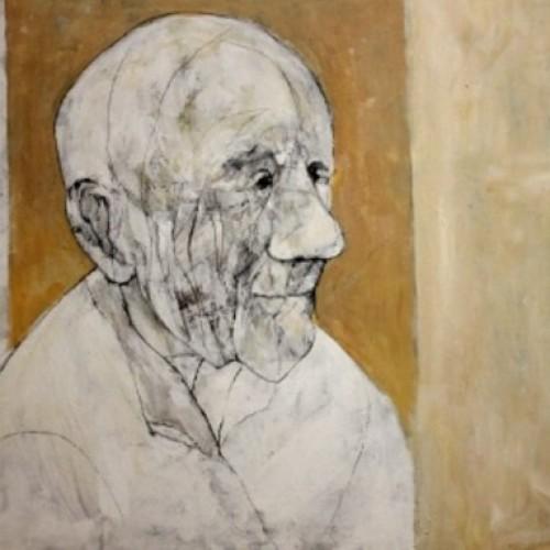 זקן על רקע מונוכרום - 116X73