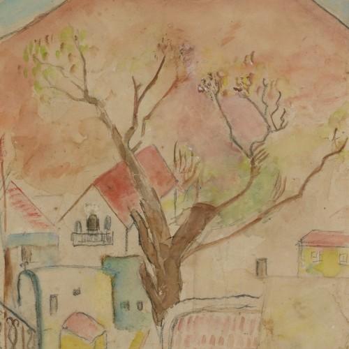 נחש – 2014, חמר וצבע תעשייתי על עץ לבוד, 40x40