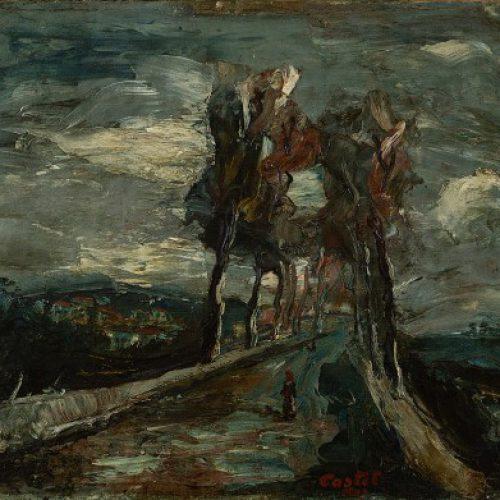משה קסטל שדרה בצפת 198 אוסף המשכן לאמנות עין חרוד