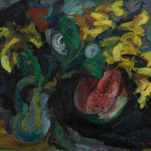 חיים אתר סייפנים צהובים 1948 אוסף המשכן לאמנות עין חרוד