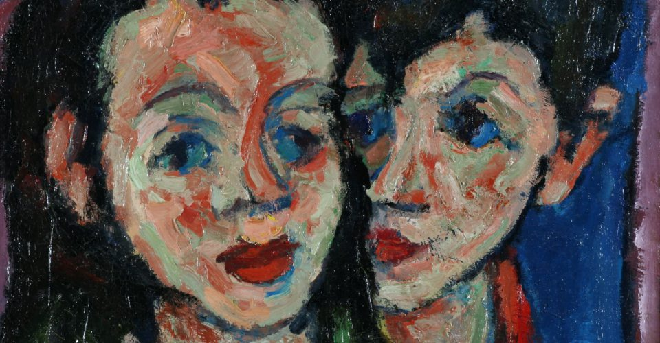חיים אתר דיוקן שני ילדים אוסף המשכן לאמנות עין חרוד