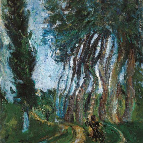 חיים סוטין, דרך מתפטלת, 1919, שמן על בד, אוסף מוזיאון הכט אוניברסיטת חיפה צילום שי לוי  (1