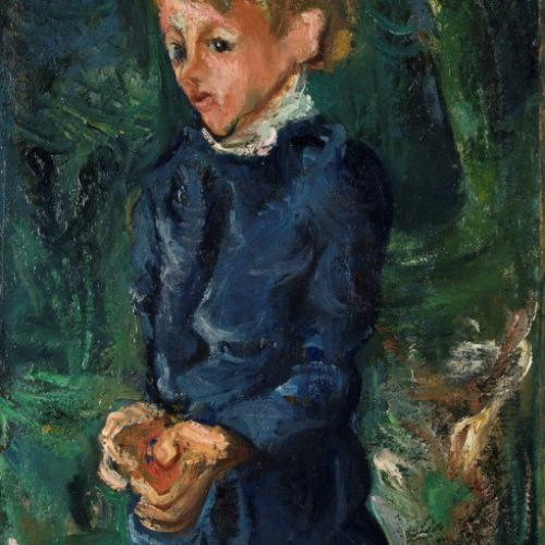 חיים סוטין ילדה בכחול 1938 שמן על בד מוזאון  ישראל ירושלים צילום עפרית רוזנברג