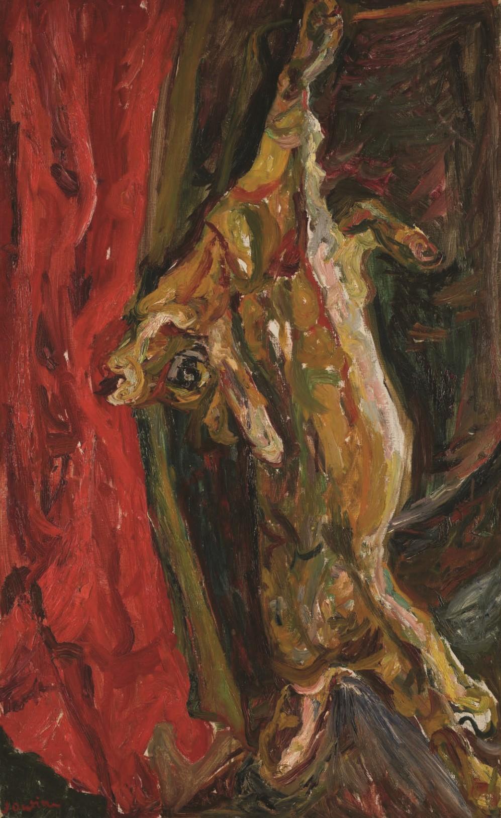 חיים סוטין, סבך ווילון אדום, 1924 בקירוב, שמן על בד, 8149 סמ, מתנת לוטה ווולטר.ד פלורשמיר, זוליקון, שוויץ, מוזיאון ישראל צילום עפרית רוזנברג